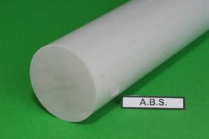 Barra tonda in ABS grigio chiaro D.mm.100 Cod.ABS100
