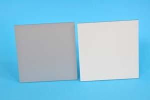 Lastra alluminio composita con superficie bianco lucido e silver