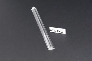Triangoli base mm.8x1200 in acrilico trasparente Cod.ATRIANG08