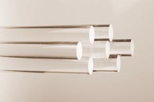 Barra in resina acrilica trasparente Cod.B012L