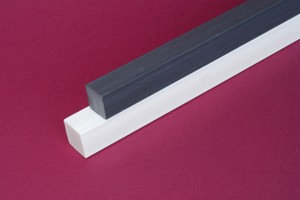 Barra quadra PVC cloruro di polivinile grigio mm.22 Cod.Q022/G