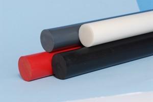 Barra tonda colore nero cloruro di polivinile D.mm.110 Cod.PVC11