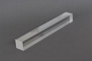 Barra quadra resina acrilica trasp. Cod.BQ040L
