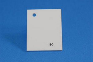 Lastra acrilica GS PL tagliata bianco latte 190 Cod.C10TM/190
