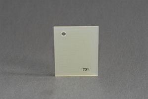 Lastra acrilica GS opal giallino 731 spess.mm.3 tagl. Cod.C03TM/