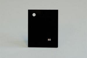 Lastra acrilica GS PL tagliata nero 80 spess.mm.8 Cod.C08TM/80