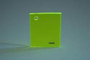 Lastra acrilica GS PL tagliata verde TR fluor. Cod.C10TM/2205