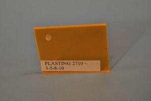 Lastra acrilica GS PL tagliata giallo TR fluor. Cod.C03TM/2710