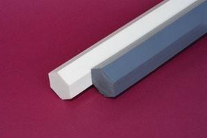 Barra esagonale cloruro di polivinile naturale mm.28 Cod.CH28/NA