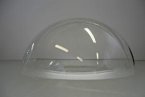 Cupola stampata in resina acrilica trasp.colata mm.220/3 Cod.CUP