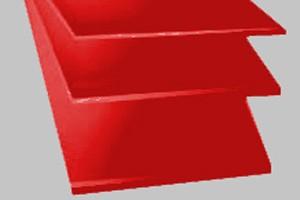Lastra cloruro di polivinile PVC spess. mm.1,5 rosso COD. R01,5