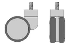 Ruota pivottante H100 D.mm.80 mm.103x45x100 Cod.PWHL10A1