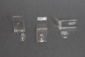 Set chiusura in 2 particolari in acrilico trasparente Cod.SET2