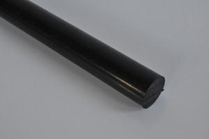 Barra tonda Poliammide 6+MOS2 colore nero D.mm.18 Cod.SM018
