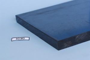 Lastra Poliammide 6+MOS2 colore nero sp.mm.3 Cod.SML03