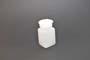 Bottiglia rettangolare pol.bianco cc.100
