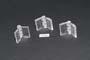Cerniera in acrilico trasp. stampata mm.24x31