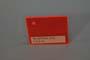 Lastra acrilica GS PL tagliata rosso fluor. spess.mm.5
