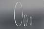 Dischi in acrilico estruso trasparente bordo lamato D.mm.100/10