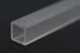 Tubo quadro estruso resina acrilica trasparente mm.52x52