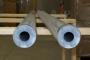 Barre tonde forate - manicotti in PVC grigio D.mm.100/30