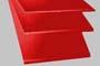 Lastra cloruro di polivinile PVC tagl. spess.mm.35 rosso
