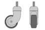 Ruota pivottante H100 D.mm.65 mm.80x45x100