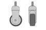 Ruota unidirezionale H100 D.mm.65 mm.65x45x100