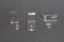 Set chiusura in 2 particolari in acrilico trasparente