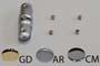 distanziale serie SIGNHOLD DOUBLE argento opaco